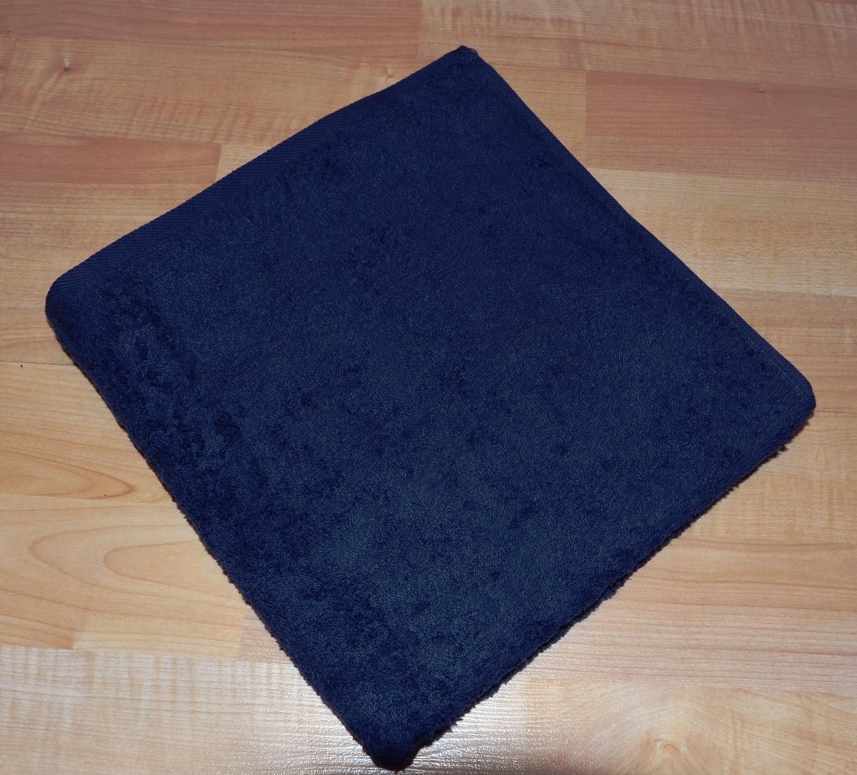 Froté ručník 50x100cm bez proužku 450g tmavě modrý