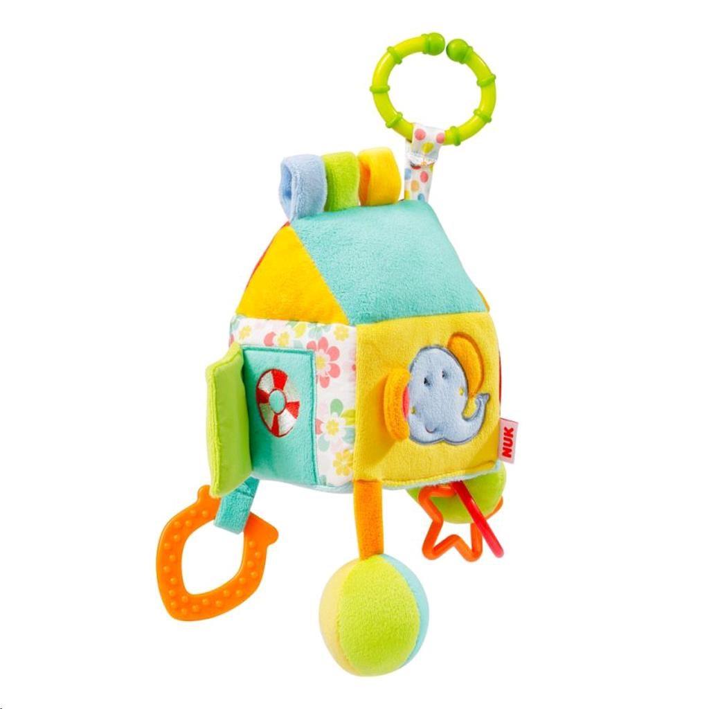 Dětská plyšová hračka NUK Domeček - multicolor
