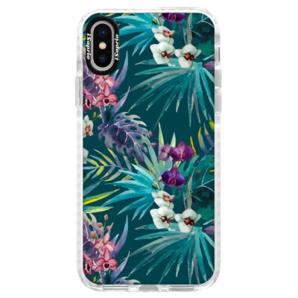 Silikonové pouzdro Bumper iSaprio - Tropical Blue 01 - iPhone X
