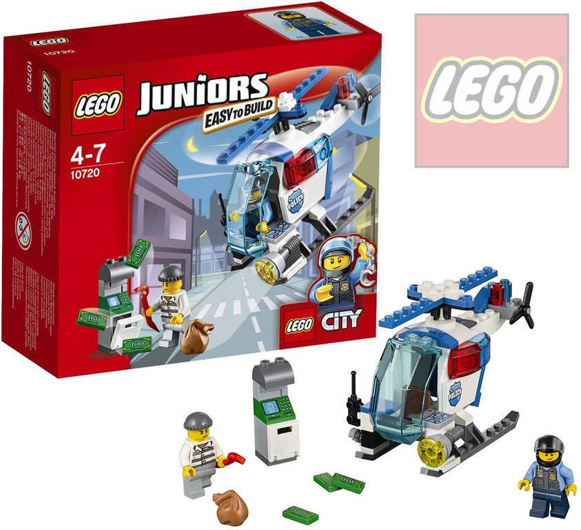 LEGO JUNIORS Pronásledování s policejní helikoptérou 10720 STAVEBNICE