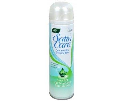 Gillette Satin Care Aloe Vera Shave Gel ( suchá pleť ) - Gel na holení 200 ml