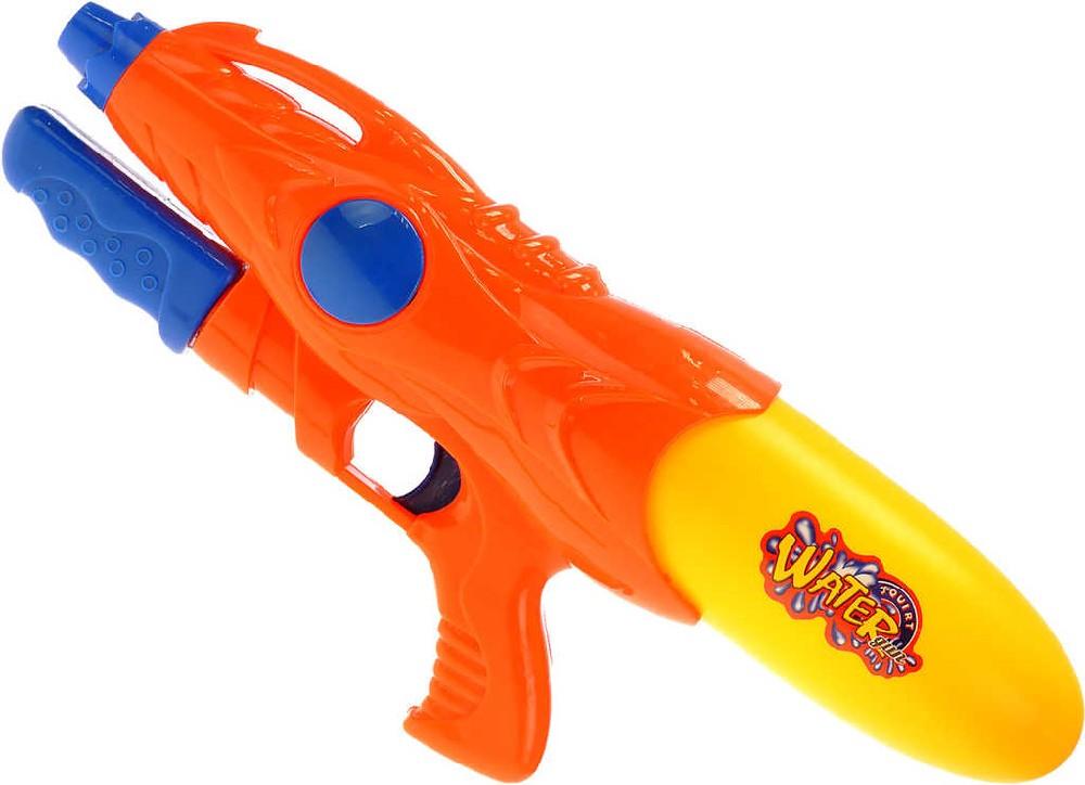 Vodní pistole 39cm s pumpou se zásobníkem na vodu 3 barvy v sáčku plast