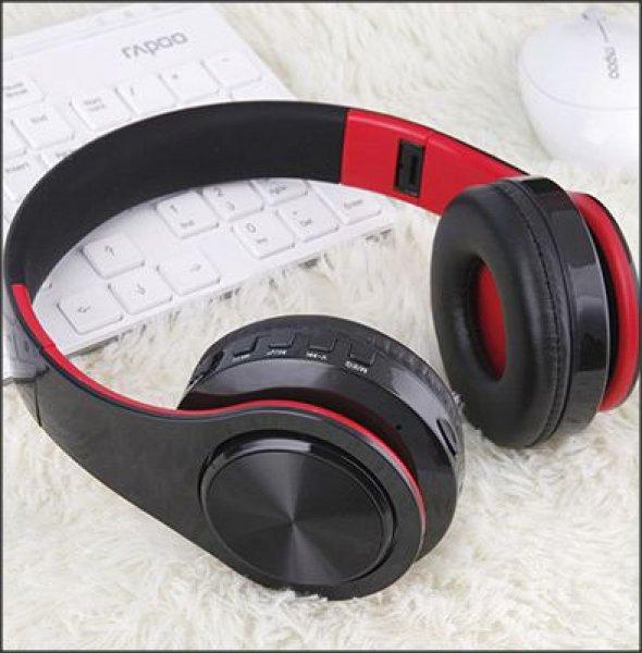 Bluetooth náhlavní sluchátka Tourya B7 - Černá-červená