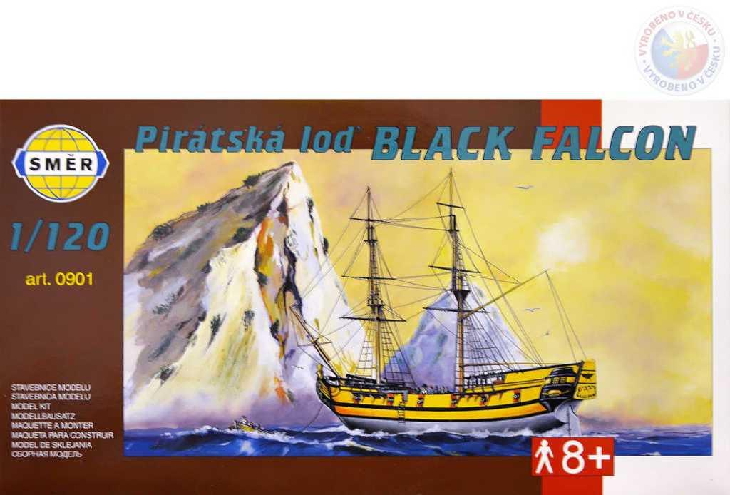 SMĚR Model loď Black Falcon 1:120 (stavebnice lodě)