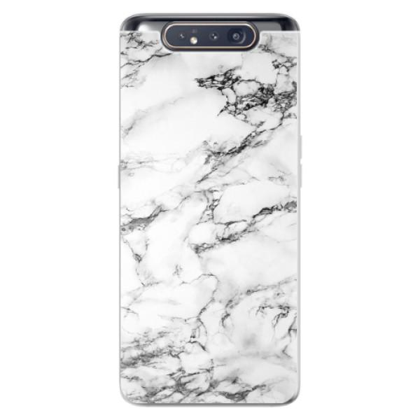 Odolné silikonové pouzdro iSaprio - White Marble 01 - Samsung Galaxy A80