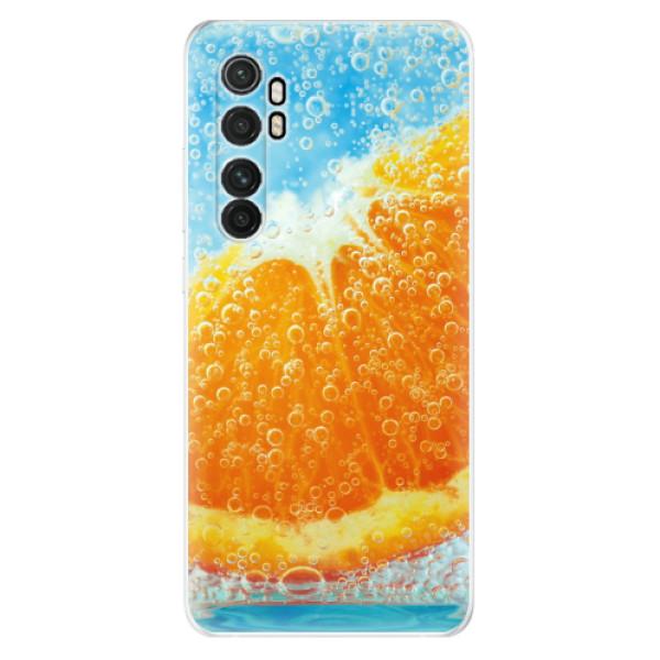 Odolné silikonové pouzdro iSaprio - Orange Water - Xiaomi Mi Note 10 Lite