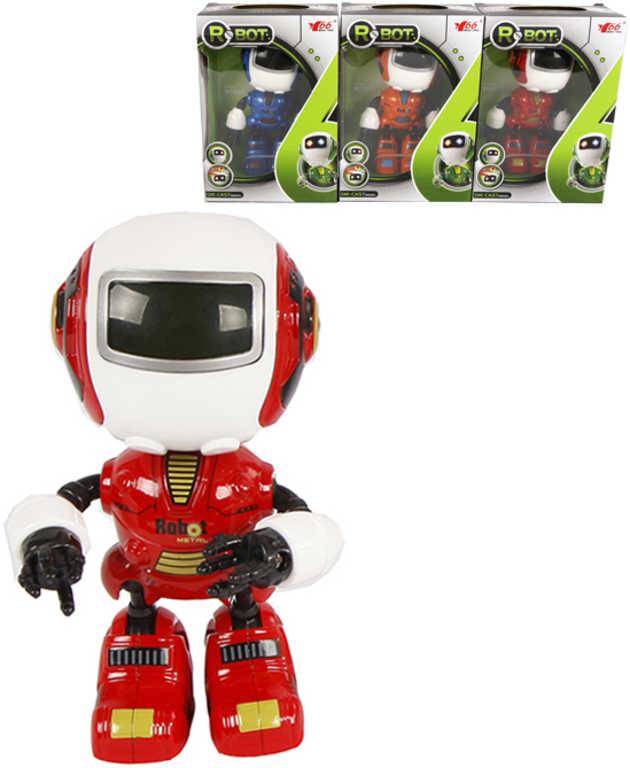 Robot kovový 12 cm na baterie - 3 barvy