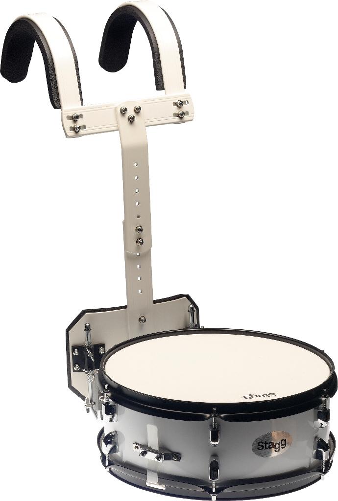"""Stagg MASD-1455, bubínek rytmický pochodový 14"""" x 5,5"""" s postrojem, bílý"""