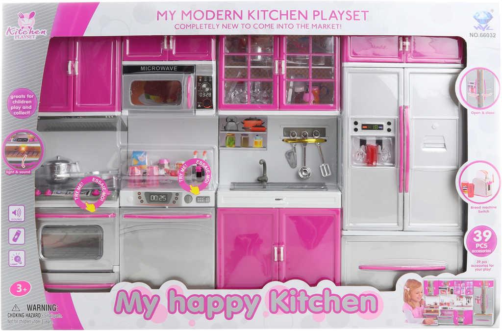 Set kuchyňské studio pro panenky s funkčním toustovačem na baterie Světlo Zvuk