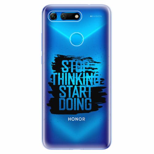 Silikonové pouzdro iSaprio - Start Doing - black - Huawei Honor View 20