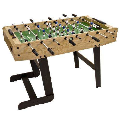 Stolní fotbal fotbálek rozkládací Belfast 121 x 101 x 79 cm - světlé dřevo