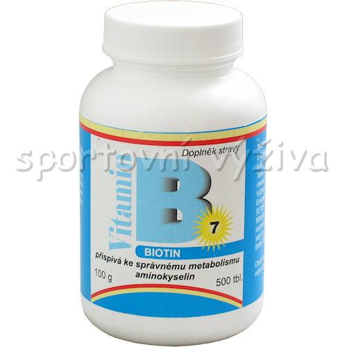 Biotin vitamín B 7 500mcg 500 tablet