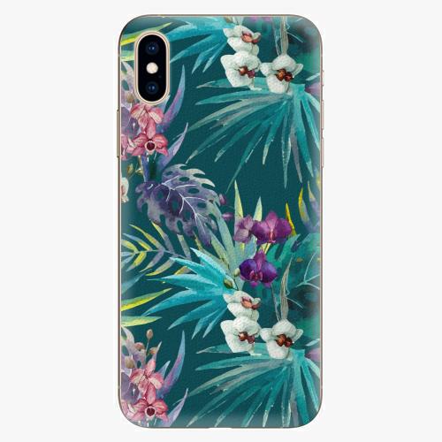 Silikonové pouzdro iSaprio - Tropical Blue 01 - iPhone XS