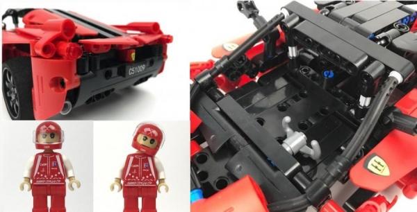 Červený sporťák - stavebnice na vysílačku