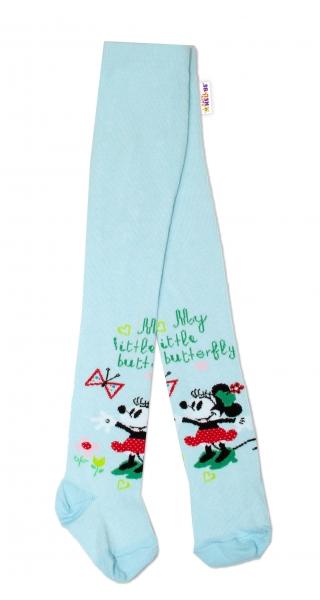 Bavlněné punčocháče Disney Minnie - mátové, vel. 62/74 - 62 (2-3m)/68 (4-6m)/74 (6-9m)
