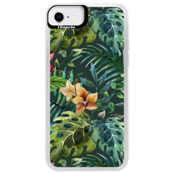 Neonové pouzdro Blue iSaprio - Tropical Green 02 - iPhone SE 2020
