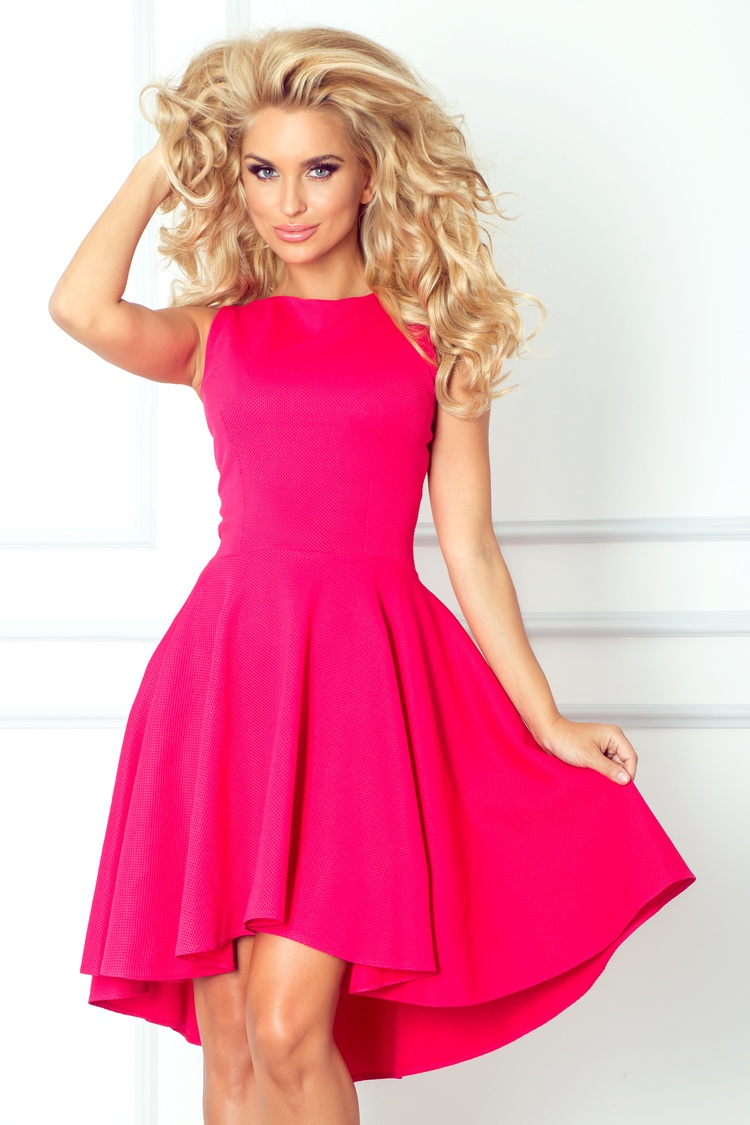Společenské šaty SF 66-3 - Numoco - Tmavě růžová/S