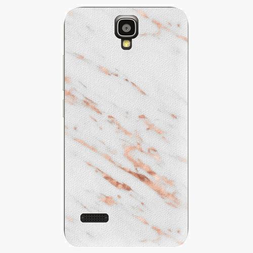 Plastový kryt iSaprio - Rose Gold Marble - Huawei Ascend Y5