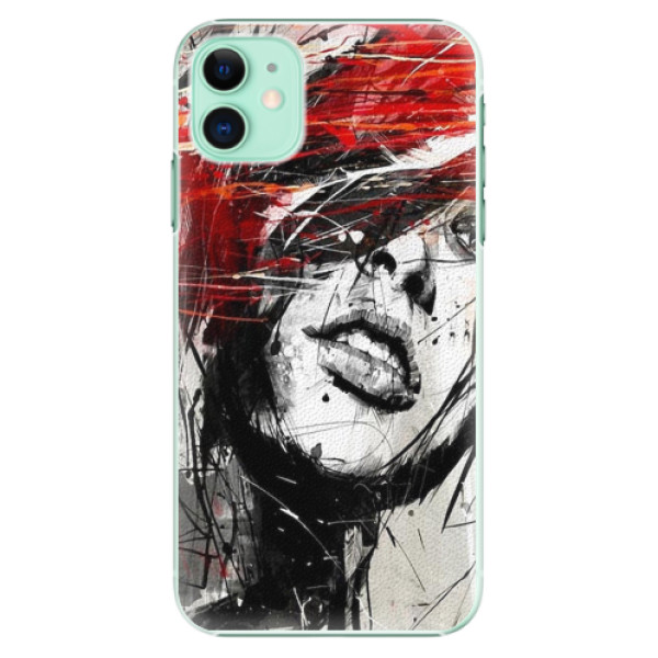 Plastové pouzdro iSaprio - Sketch Face - iPhone 11