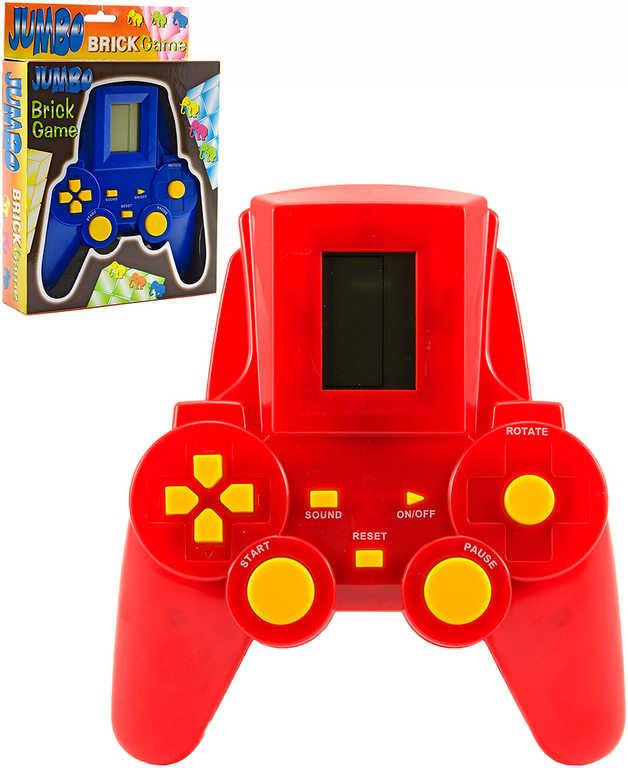 Tetris Jumbo hra retro postřehová elektronická na baterie - 2 barvy