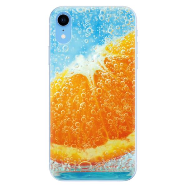 Odolné silikonové pouzdro iSaprio - Orange Water - iPhone XR