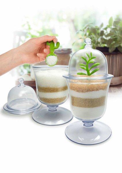 Designová cukřenka s kaktusovou lžičkou
