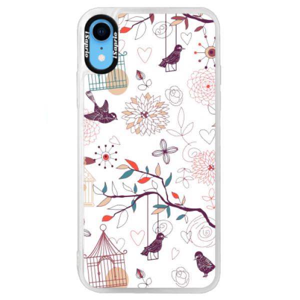 Neonové pouzdro Blue iSaprio - Birds - iPhone XR