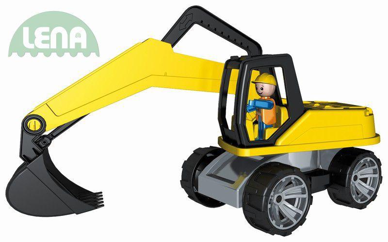 LENA Truxx Bagr 37cm (auto na písek) s figurkou řidiče plast