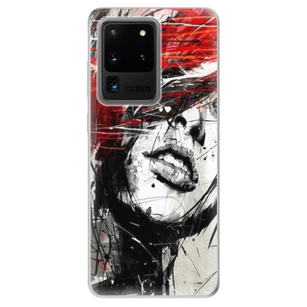Odolné silikonové pouzdro iSaprio - Sketch Face - Samsung Galaxy S20 Ultra