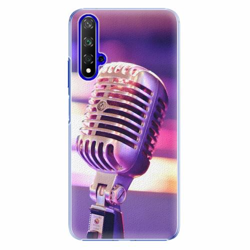 Plastový kryt iSaprio - Vintage Microphone - Huawei Honor 20