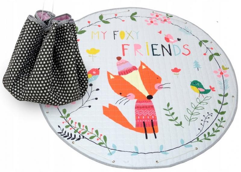 Hrací deka - koš na hračky 150 cm - Fox