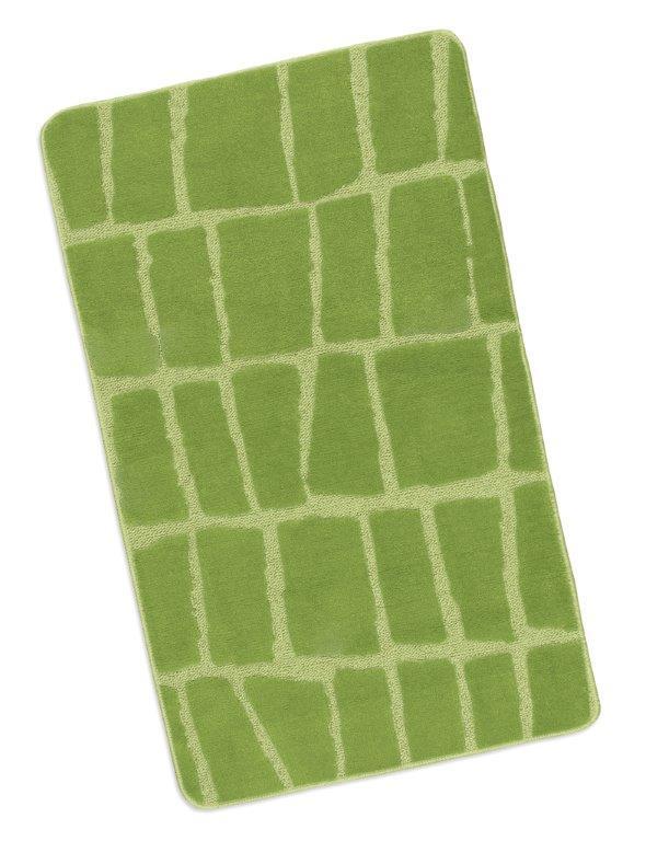 Koupelnová předložka 60x100cm Kostka zelená