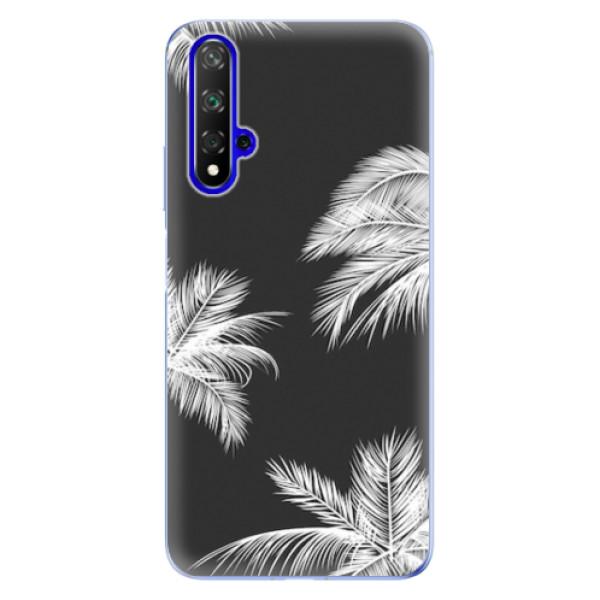 Odolné silikonové pouzdro iSaprio - White Palm - Huawei Honor 20