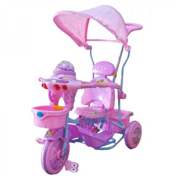 Dětská multifunkční tříkolka Euro Baby Ufo - růžovo/fialová