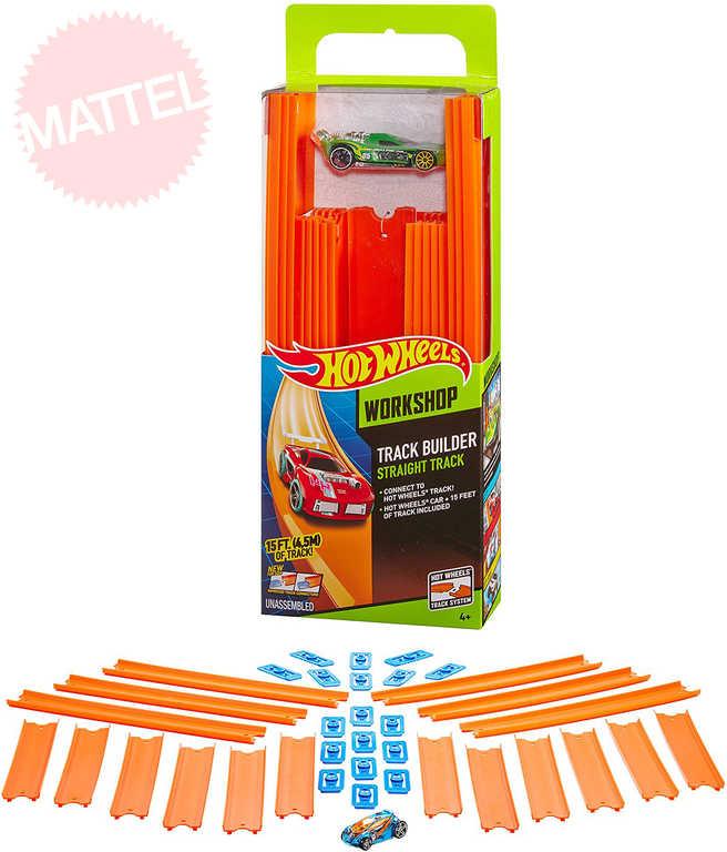 MATTEL HOT WHEELS Dráha Track Builder 4,5m set s autíčkem