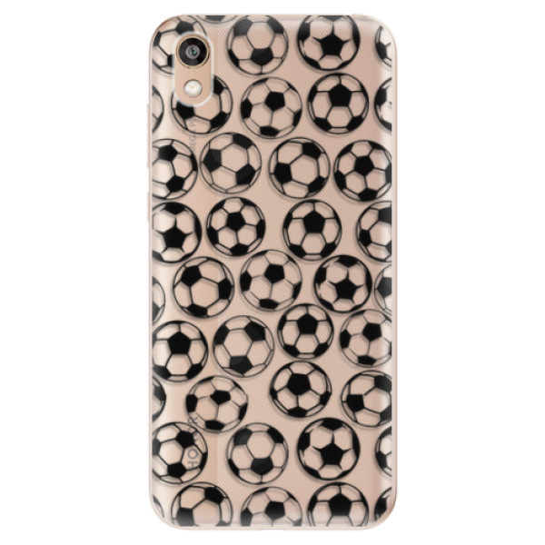 Odolné silikonové pouzdro iSaprio - Football pattern - black - Huawei Honor 8S