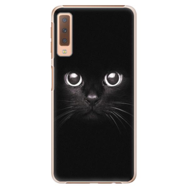 Plastové pouzdro iSaprio - Black Cat - Samsung Galaxy A7 (2018)