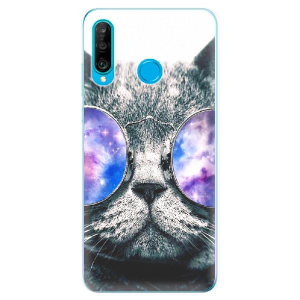Odolné silikonové pouzdro iSaprio - Galaxy Cat - Huawei P30 Lite