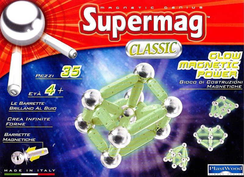 SUPERMAG klasik fosforeskující * MAGNETICKÁ STAVEBNICE *