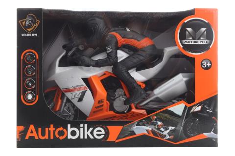 Motorka s jezdcem na baterie