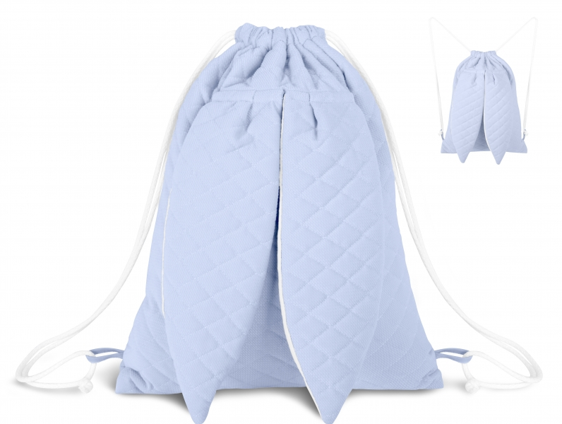 Stylový dětský batůžek Velvet lux Miminu prošívaný - modrý