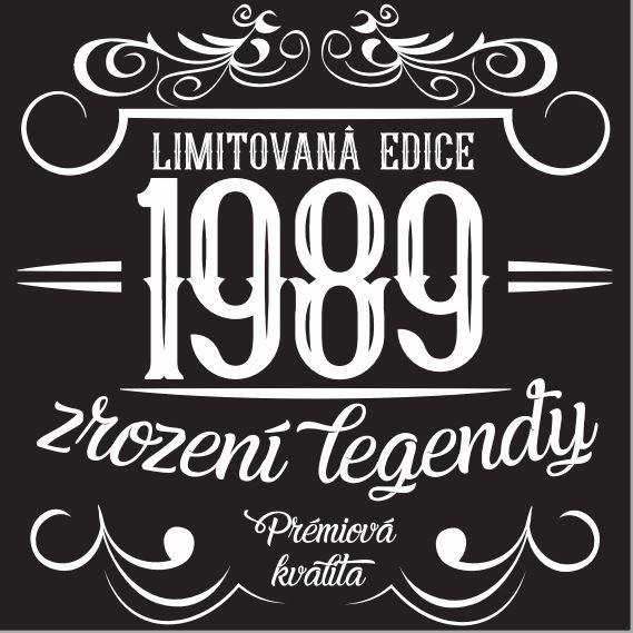 - Pánské humorné tričko - 1989, vel. L