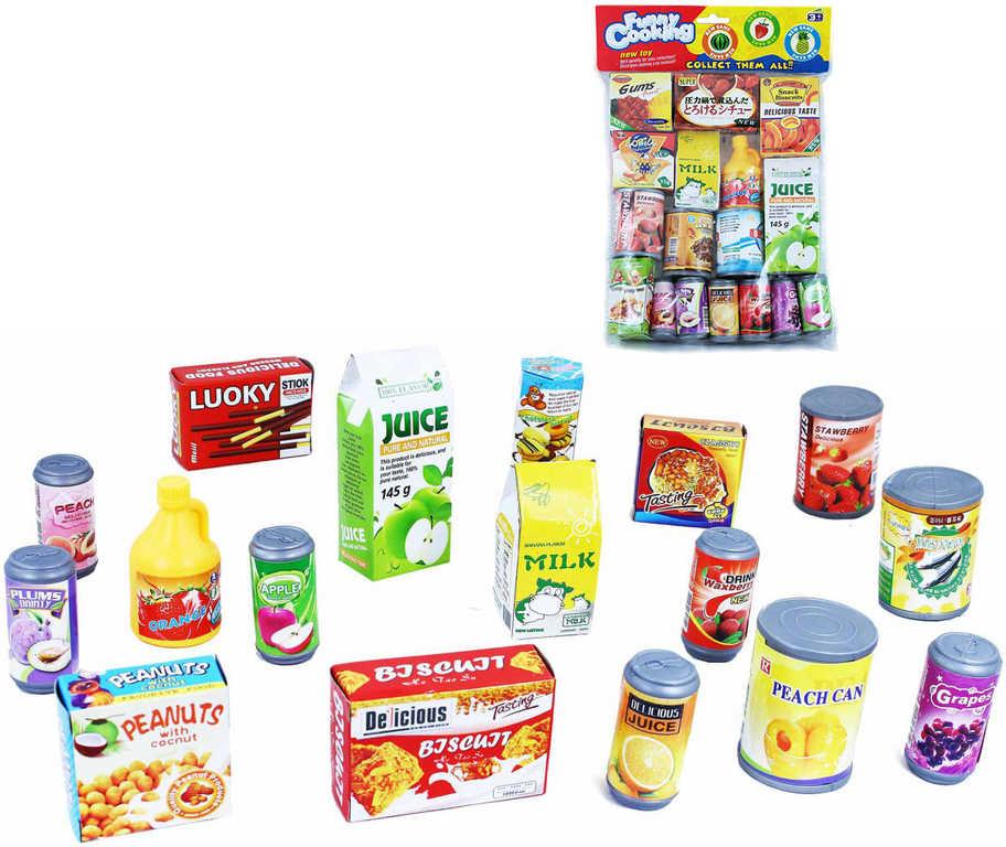 Dětské potraviny a nápoje zábavné vaření set 17ks v sáčku