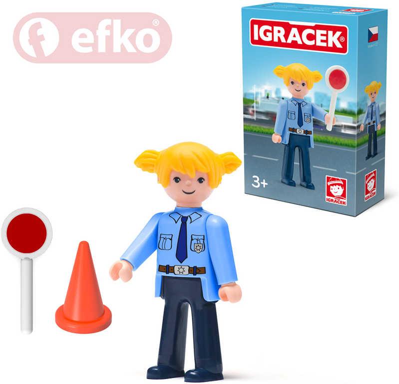 EFKO IGRÁČEK Policistka s doplňky v krabičce STAVEBNICE
