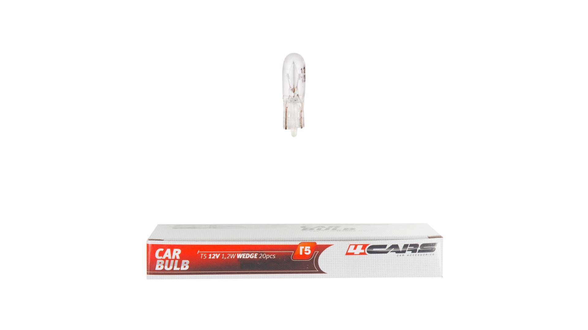 4CARS Žárovka T5 12V 1,2V (20 kusu v balení)