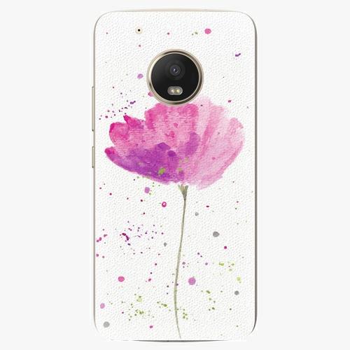 Plastový kryt iSaprio - Poppies - Lenovo Moto G5 Plus