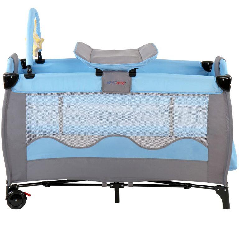 cestovni-detska-postylka-s-prebalovacim-pultem-modra-seda