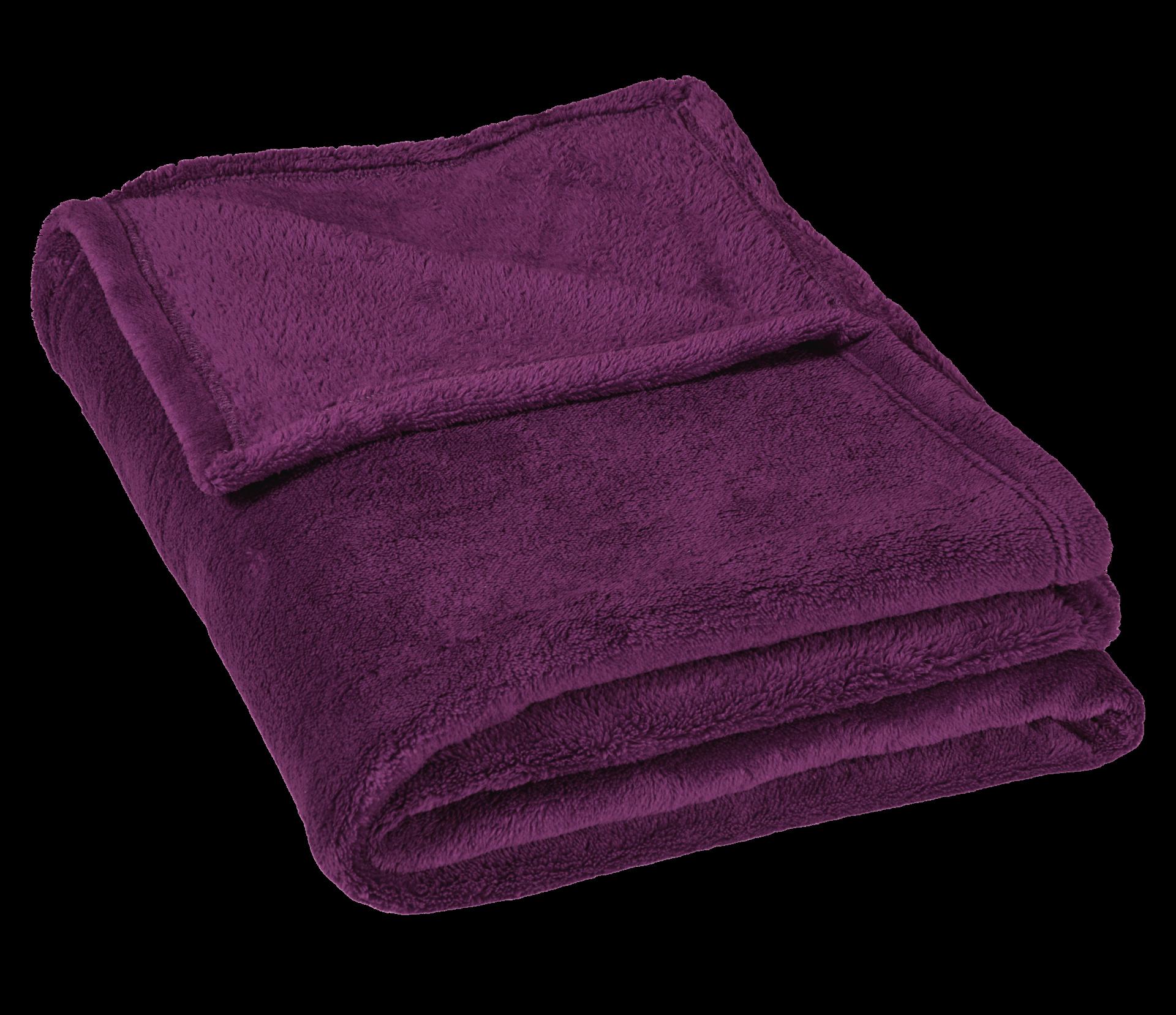 Micro deka jednolůžko 150x200cm fialová 300g/m2
