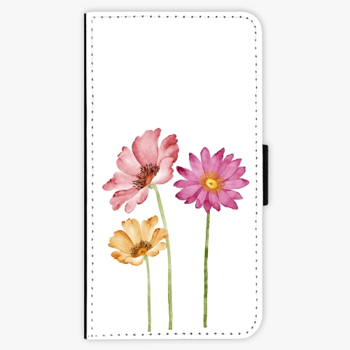 Flipové pouzdro iSaprio - Three Flowers - Samsung Galaxy A3