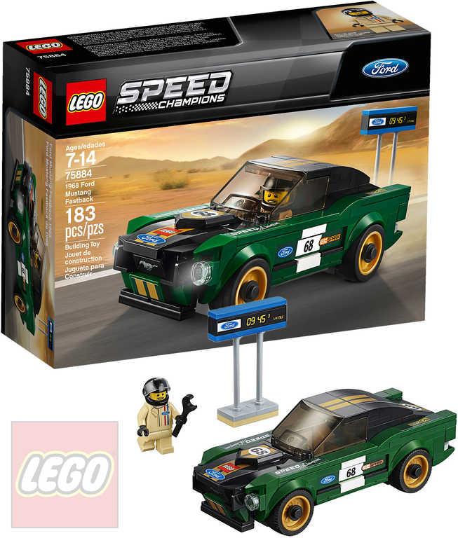 LEGO SPEED Champions 1968 Ford Mustang Fastback 75884 STAVEBNICE